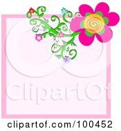 Flower Vine On A Pink Background