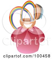 Royalty Free RF Clipart Illustration Of A Businessman With A Rainbow Brain