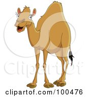 Royalty Free RF Clipart Illustration Of A Happy Camel Smiling by yayayoyo #COLLC100476-0157