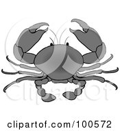 Royalty Free RF Clipart Illustration Of A Gradient Gray Crab