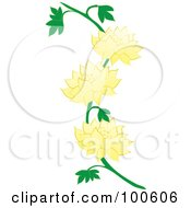 Royalty Free RF Clipart Illustration Of A Lotus Vine With Yellow Flowers by Pams Clipart