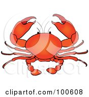 Royalty Free RF Clipart Illustration Of A Gradient Red Crab
