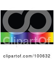 Royalty Free RF Clipart Illustration Of A Rainbow Gradient Business Card Template Or Website Background With Black Copyspace