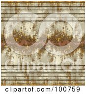 Royalty Free RF Clipart Illustration Of A Seamless Background Of A Rusty And Peeling Panel
