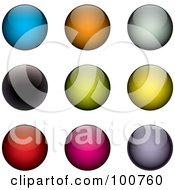 Royalty Free RF Clipart Illustration Of A Digital Collage Of Colorful Glossy Orb Design Elements