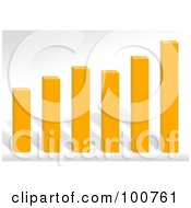 Royalty Free RF Clipart Illustration Of A 3d Orange Bar Graph With Varying Stats by Arena Creative