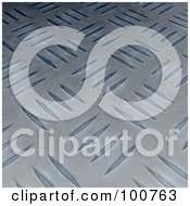 Royalty Free RF Clipart Illustration Of An Angled View Of A Blue Diamond Plate Background
