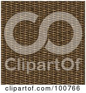 Royalty Free RF Clipart Illustration Of A 3d Wicker Material Weave Background by Arena Creative