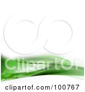 Royalty Free RF Clipart Illustration Of A White Background With A Green Fractal Border