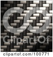 Royalty Free RF Clipart Illustration Of A Background Of Tightly Woven Diagonal Carbon Fiber by Arena Creative