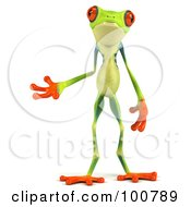 3d Argie Frog Facing Front And Gesturing Left