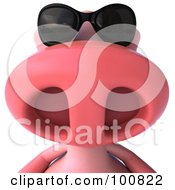 Royalty Free RF Clipart Illustration Of A 3d Pookie Pig Character Wearing Shades
