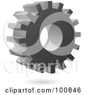 Royalty Free RF Clipart Illustration Of A 3d Metal Gear Cog Icon