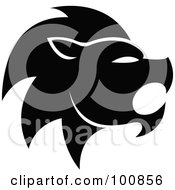 Royalty Free RF Clipart Illustration Of A Black And White Lion Leo Zodiac Icon