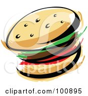Royalty Free RF Clipart Illustration Of An Abstract Hamburger by cidepix