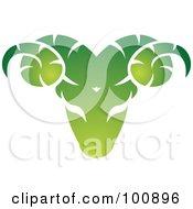 Gradient Green Aries Ram Zodiac Icon