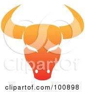 Gradient Orange Taurus Bull Zodiac Icon