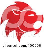 Gradient Red Lion Leo Zodiac Icon