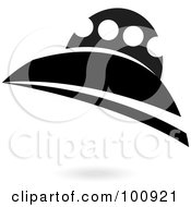 Royalty Free RF Clipart Illustration Of A Black And White Spaceship by cidepix