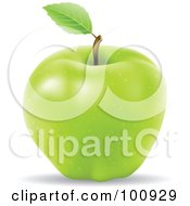 Royalty Free RF Clipart Illustration Of A 3d Realistic Green Apple
