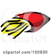 Royalty Free RF Clipart Illustration Of French Fries In A Red Bag