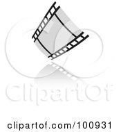 Royalty Free RF Clipart Illustration Of A Grayscale Film Strip Icon by cidepix