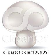 3d Realistic Button Mushroom