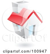 Royalty Free RF Clipart Illustration Of A 3d Glossy Home Page Icon