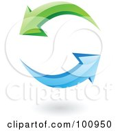 Royalty Free RF Clipart Illustration Of A 3d Glossy Refresh Page Icon by cidepix