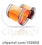 Curling Orange Film Strip Icon