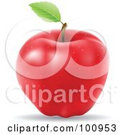 3d Realistic Red Apple