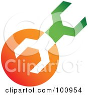 Royalty Free RF Clipart Illustration Of A Green And Orange Wrench Tools Icon