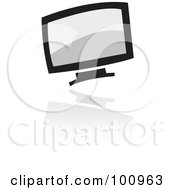 Royalty Free RF Clipart Illustration Of A Black Computer Logo Icon by cidepix