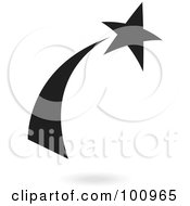 Royalty Free RF Clipart Illustration Of A Black Shooting Star Logo Icon by cidepix