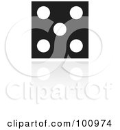 Royalty Free RF Clipart Illustration Of A Black And White Dice Icon by cidepix