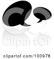 Royalty Free RF Clipart Illustration Of A Black And White Symbol Icon by cidepix