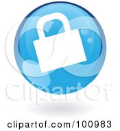 Royalty Free RF Clipart Illustration Of A Round Glossy Blue HTTPS Web Icon by cidepix