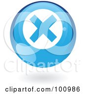 Royalty Free RF Clipart Illustration Of A Round Glossy Blue Error Web Icon by cidepix