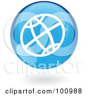 Royalty Free RF Clipart Illustration Of A Round Glossy Blue WWW Web Icon
