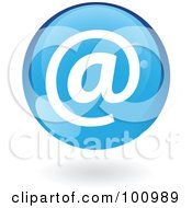 Royalty Free RF Clipart Illustration Of A Round Glossy Blue Email Web Icon by cidepix