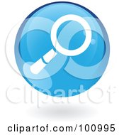 Royalty Free RF Clipart Illustration Of A Round Glossy Blue Search Web Icon
