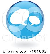 Royalty Free RF Clipart Illustration Of A Round Glossy Blue Chat Web Icon by cidepix