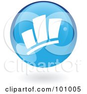 Royalty Free RF Clipart Illustration Of A Blue Statistics Icon by cidepix