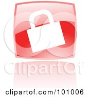 Royalty Free RF Clipart Illustration Of A Shiny Red Square HTTPS Web Browser Icon by cidepix