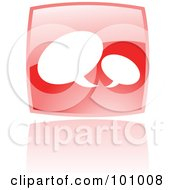 Royalty Free RF Clipart Illustration Of A Shiny Red Square Chat Web Browser Icon by cidepix
