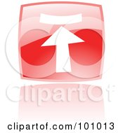 Royalty Free RF Clipart Illustration Of A Shiny Red Square Upload Web Browser Icon by cidepix