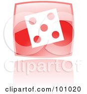 Royalty Free RF Clipart Illustration Of A Square Red Dice Icon by cidepix
