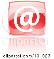 Royalty Free RF Clipart Illustration Of A Shiny Red Square Email Web Browser Icon by cidepix