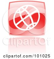 Royalty Free RF Clipart Illustration Of A Shiny Red Square WWW Web Browser Icon by cidepix