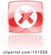 Royalty Free RF Clipart Illustration Of A Shiny Red Square Error Web Browser Icon by cidepix